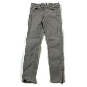 Paige Verdugo Ankle Gray Stretch Jeans